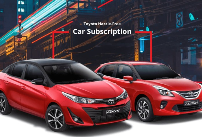 toyota car subscribe service in india