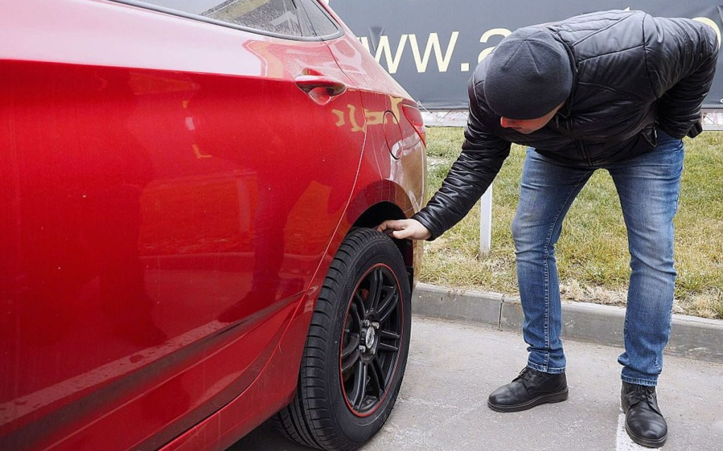 check used car tyre