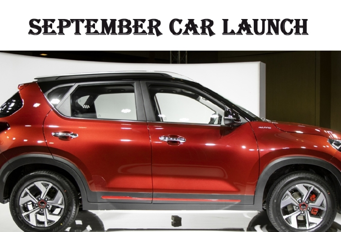 car launch in September 2020 in India