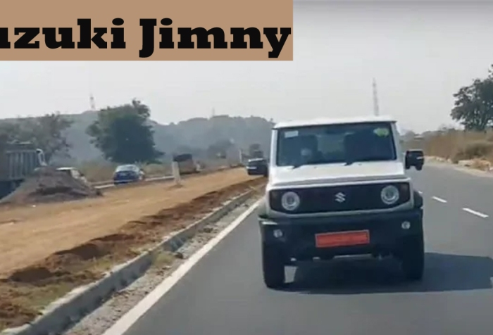 suzuki jimny spotted testing in india