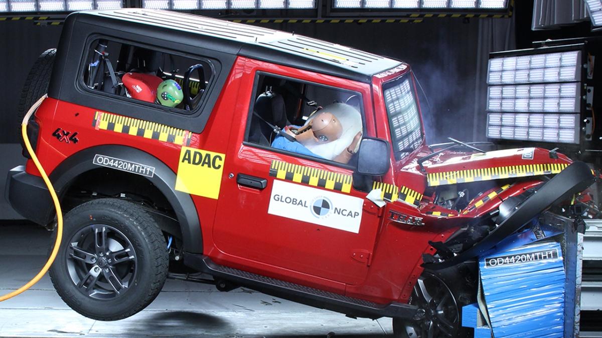 Mahindra Thar crash test